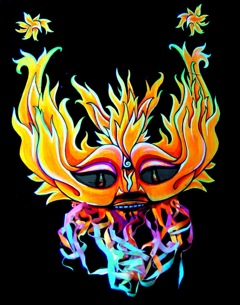 """Fire"" Mask by Alan Bell"