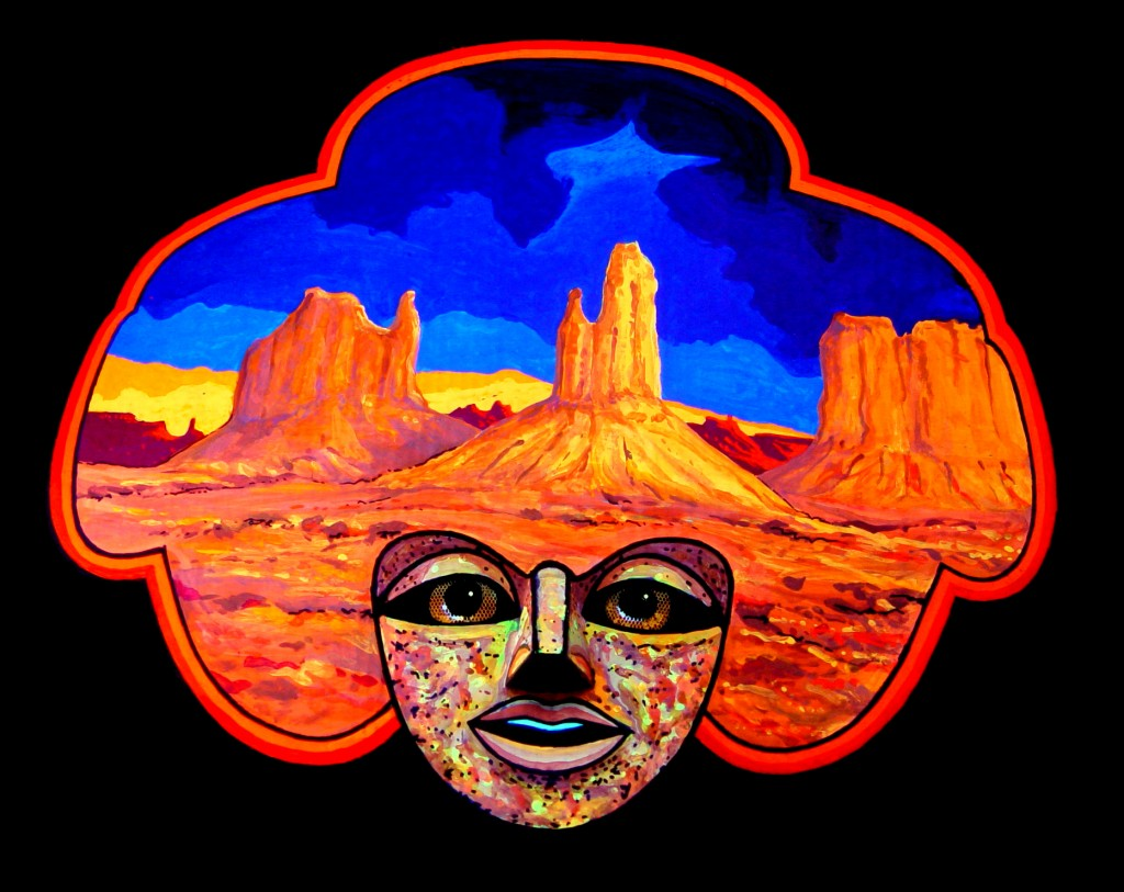 """Desert"" Mask by Alan Bell"